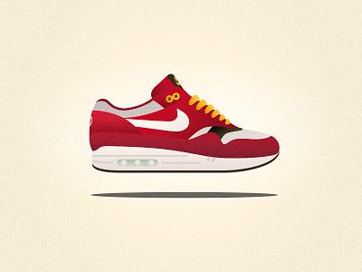 "Nike Air Max 1 ""Urawa"" Red Dragon shoe sneaker urawa nike"