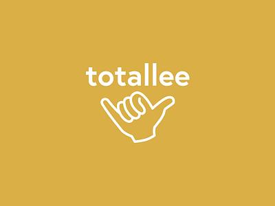 Totallee shaka concept logo