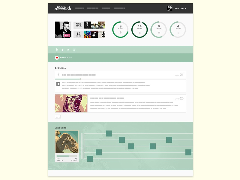 Dribbble for singer-songwriters dribbble profile music flat design