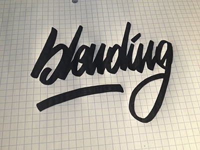 Blending - Pratice lettering calligraphy writing hand writing paper brush pratice