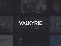 Valkyrie themeforest wordpress modern magazine freelance creative blog agency