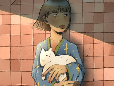 Time does not heal cat illustration