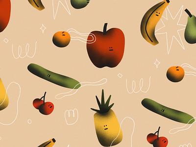 Stagnant Feeling Fruits Community fruits pattern illustration