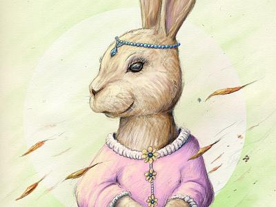 Miss Rabbit - Final steven skadal digital painting sketch rabbit painting pencil illustration drawing digital art