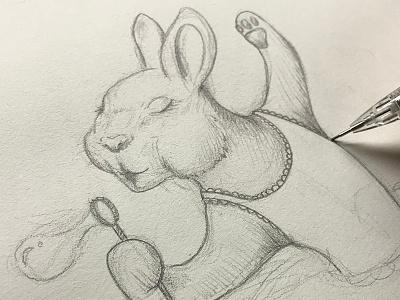 Ballerina Bunny steven skadal ballerina bunny rabbit pencil illustration sketch drawing art