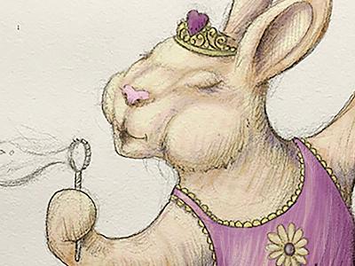 Ballerina Bunny steven skadal sketch pencil drawing bunny rabbit art digital painting digital illustration