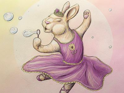 Ballerina Bunny - Final steven skadal digital painting ballerina bunny rabbit painting pencil illustration sketch drawing art