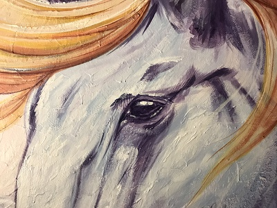 Horse Painting - Acrylic on 5'x4' canvas steven skadal horse art drawing illustration canvas acrylic painting paint