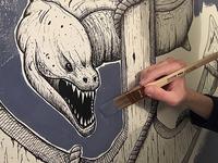 Eel & Anchor Wall Mural - SNEAK PEEK
