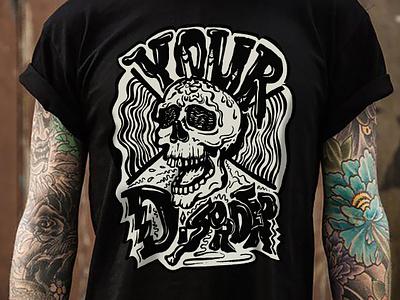 Your Disorder - T-shirt Illustration band merch band punk rock rock punk skull graphic shirt steven skadal pen design black and white ink sketch drawing art illustration