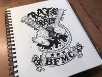 """""""Rats Get Bats"""" Illustration"""