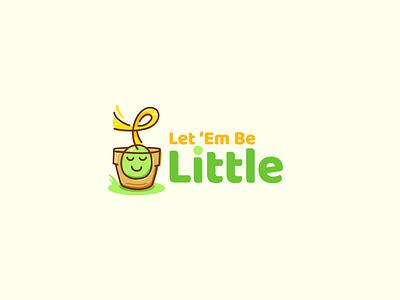 Let 'Em Be Little - logo design steven skadal art vector childrens illustration design illustration branding graphic design logo design logo