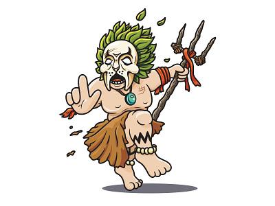 Character Design adobe illustrator steven skadal warrior tribal native vector character design design drawing art illustration