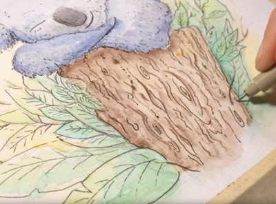 Sleeping Koala - watercolor painting