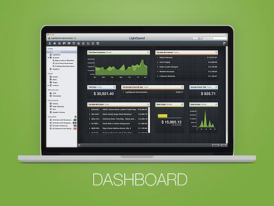 LightSpeed - Dashboard dashboard ui lightspeed retail stats chart