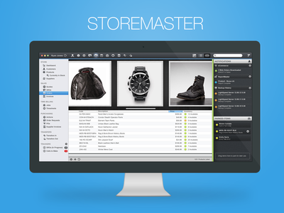 LightSpeed - StoreMaster ui user interface retail inventory