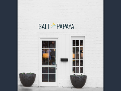Salt & Papaya website branding
