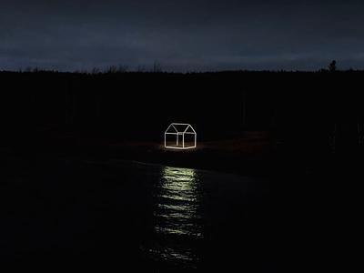Light House projection installation art sculpture