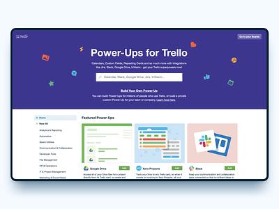 Trello Power-Ups product design ui ux