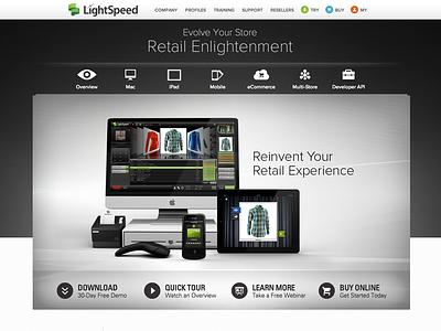 lightspeedretail.com website wordpress html css jquery content strategy front-end development