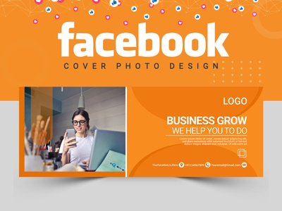 Facebook Cover Design cover design facebook cover design vector food design logo facebook post design banner set illustration banner ads banner design abastact banner template