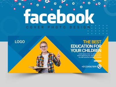 Facebook Cover Design logo design banner template abastact banner design banner ads illustration banner set facebook post design logo food vactor facebook cover cover design