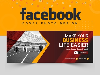 Facebook Cover Design ui ux abstract logo banner template abastact illustration logodesign designer logo design food vactor facebook cover design cover design cover art