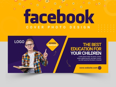 Facebook Cover Design cover design facebook cover cover art facebook cobver design vactor illustration logo logodesigner abastact branding banner template ux ui creative