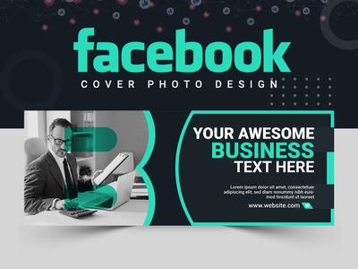Facebook Cover Design cover design facebook cover facebook post design abstract logo branding banner set banner design abastact illustration banner template