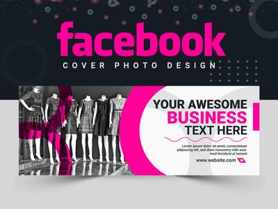 Facebook Cover Design vector facebook cover banner ads ui abstract logo cover design banner set banner design illustration banner template
