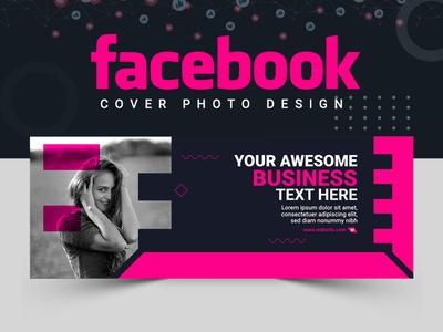 Facebook Cover Design template abstract banner ads banner set facebook cover logo facebook post design cover design vactor branding illustration banner template