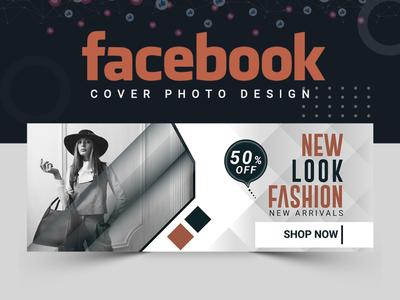 Fashion Facebook Cover Design ux illustration abstract logo cover design facebook post design banner ads banner design abastact banner template fashion design fashion brand