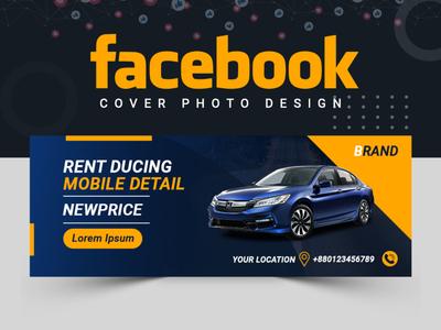 Car Shop Facebook Cover Design ux ui car car banner car shop banner set facebook cover facebook post design cover design abastact illustration banner template