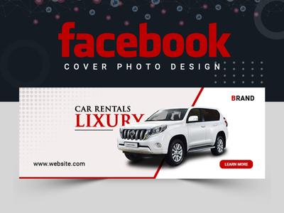 Luxury Car Facebook Cover Design facebook cover banner design banner ads cover design facebook post design banner set design abstract logo banner template abastact