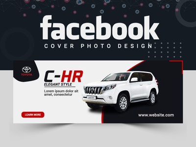 Luxury Car Facebook Cover Design ux abastact illustration banner design banner ads design facebook post design cover design branding banner set banner template