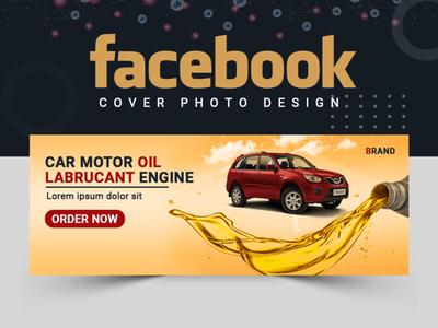 Car Facebook Cover Design cover art facebook cobver design logo logodesigner ui creative abastact ux illustration design vactor facebook cover banner ads cover design branding banner template