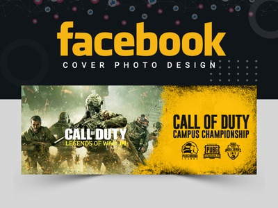 Gaming Facebook Cover typography vector facebook cover abastact illustration banner ads facebook post design abstract logo branding banner template