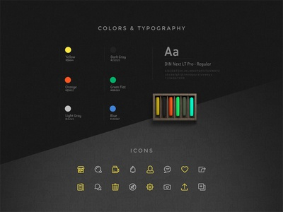 UrTravels - Colors, Typography and icons