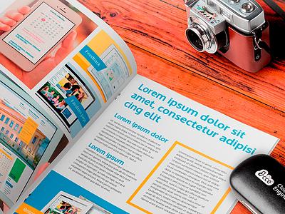 Promo brochure for cloud computing company design brochure promo cloud
