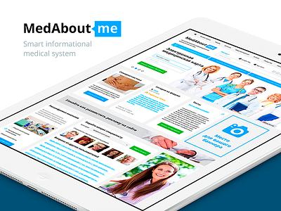 Medical social network concept design social