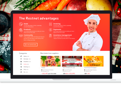 Social network landing page