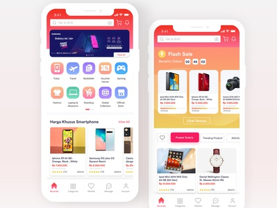 E-Commerce Mobile App :: Design Exploration - JD.ID