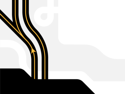 Waypoints pathway path trucking merge on-ramp route map maps illustration animated flat animation after effects motion graphics freight uber 2d motion