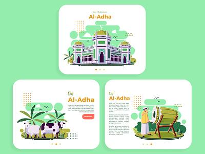 eid al-adha flat illustration graphic design illustration