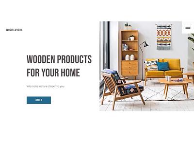 Furniture store concept typography e-commerce minimalism furniture store furniture store concept ui