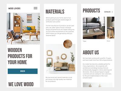 Furniture store mobile ui typogaphy e-commerce furniture minimalism ecommerce
