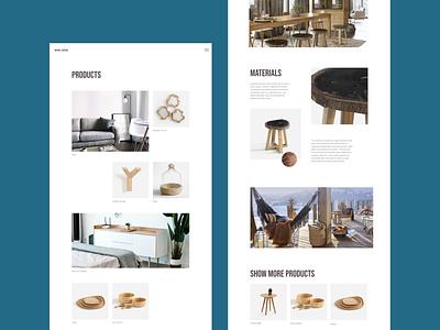 Wooden Pro minimalism furniture design typogaphy ux concept ui