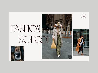 Fashion school beauty minimalism fashion type fonts ux ui uiux