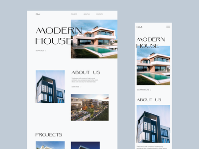 Architecture bureau architecture type minimalism typogaphy fonts concept ui ux