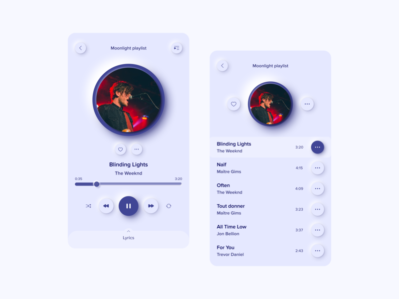 DailyUI 009 Music player skeumorphism neumorphism music music app player ui player musicplayer dailyui009 dailyuichallenge dailyui